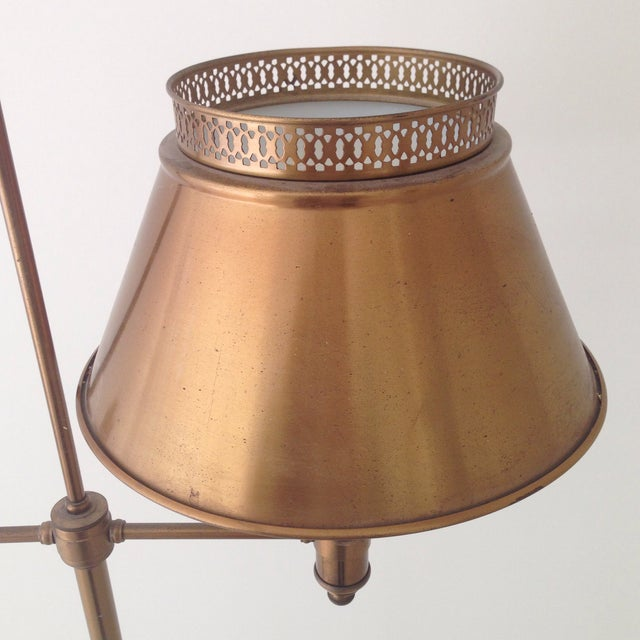 Brass Colored Tole Floor Lamp - Image 8 of 11