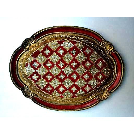 Image of Large Florentine Italian Gilt Tray