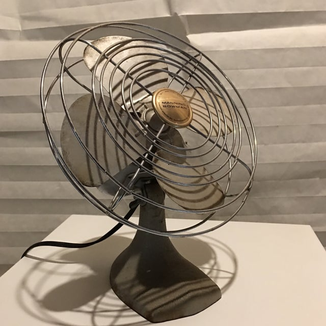 Vintage Manning Bowman Electric Table Fan - Image 4 of 6