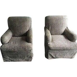 Lee Industries Designer Club Chairs - Pair