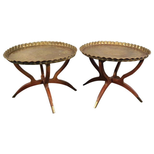 Vintage Moroccan Tea Tables/End Tables-A Pair - Image 1 of 5