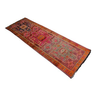 Kurdish Hand Knotted Runner Rug - 3′ 5″ × 10′6″