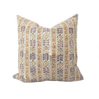 Vintage Kalamkari Accent Pillow