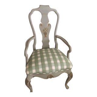 Cottage Hand Painted Bergere Chair
