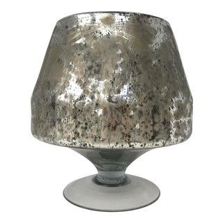 Etched Mercury Glass Vase