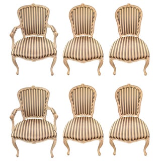 French Style Dining Chairs - Set of 6