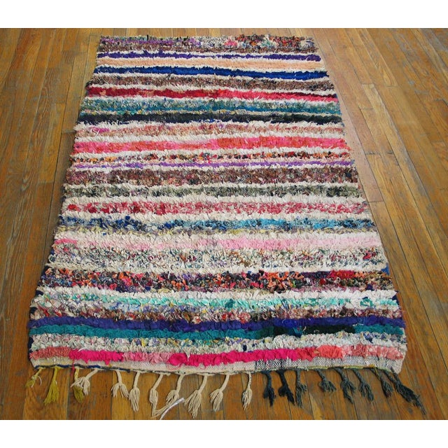 "Traditional Moroccan Boucherouitte Rug - 3'6"" x 5'6"" - Image 2 of 4"