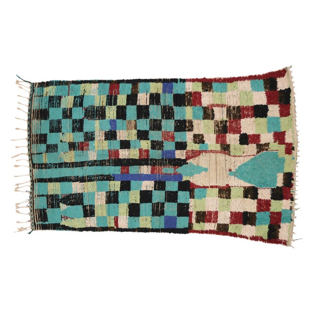 Boho Chic Vintage Berber Moroccan Rug with Modern Tribal Style, 04'05 x 07'06 - Image 2 of 9