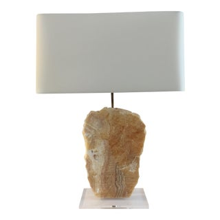 Natural Tan Stone Lamp