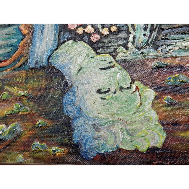 Image of Surrealist Oil on Canvas Painting by Schilling