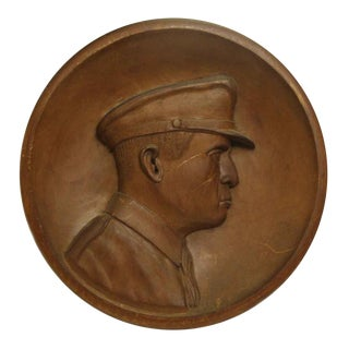 Handmade General MacArthur Wooden Plaque