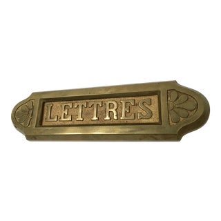 Vintage Solid Brass French Letter Slot