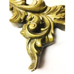 Image of Vintage Hand Sculpted Plaster Italian Mirror