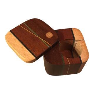 Hand Made Wood Inlay Trinket Box