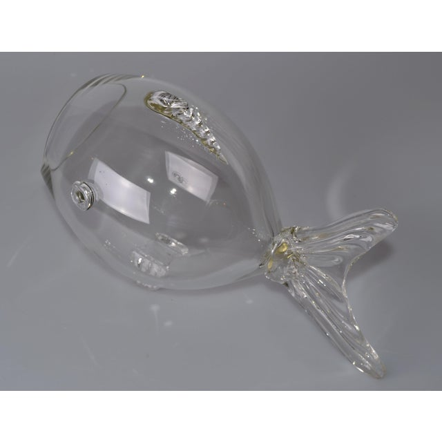 Image of Blenko Handblown Glass Fish Candy Bowl