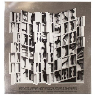 Louise Nevelson-At Pace Columbus (Silver)-1977 Foil Print-SIGNED