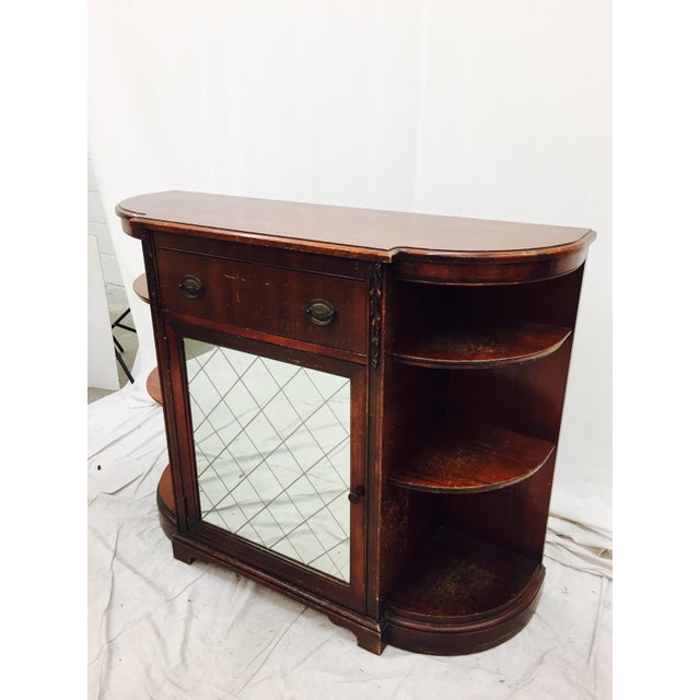 Vintage Mahogany Mirrored Console Chest - Image 4 of 11