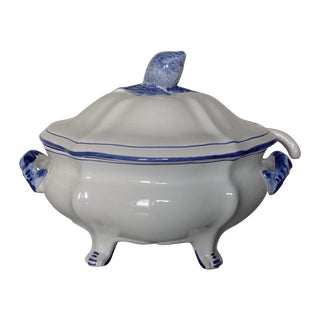 Blue and White Cantagalli Italy Tureen