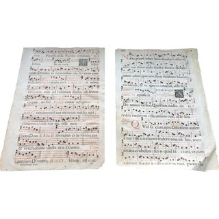 Antique Sheet Music - Pair