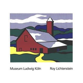 Roy Lichtenstein - Red Barn II (Lg) - 1989