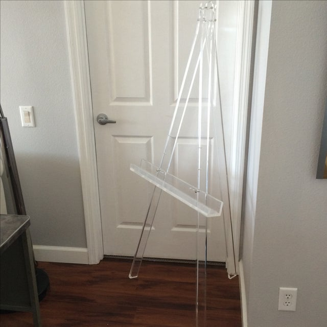 1970's Mid Century Modern Tall Lucite Art Easel - Image 4 of 7