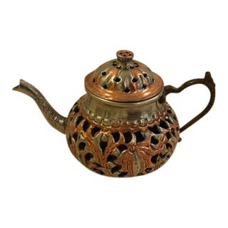 Vintage Turkish Brass Teapot