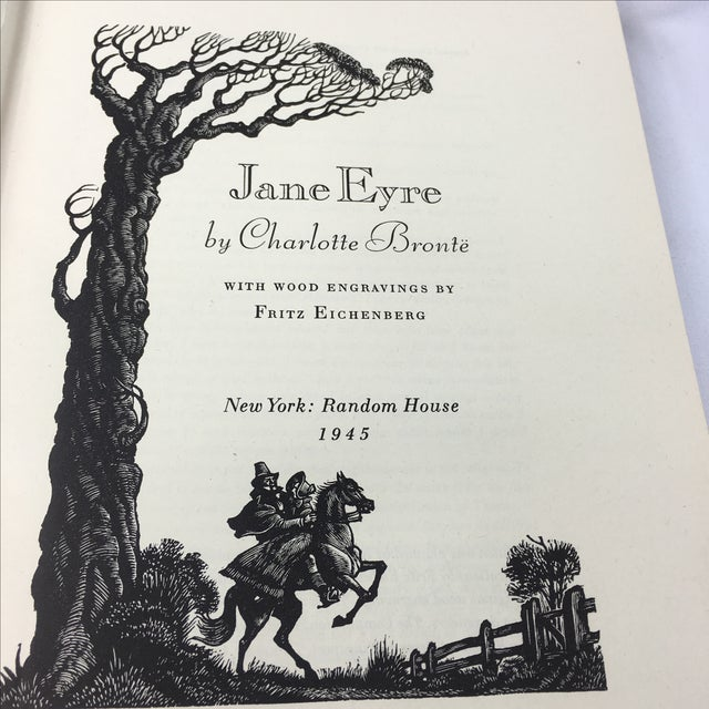 1943 Book With Art, Charlotte Bronte's Jane Eyre - Image 7 of 7