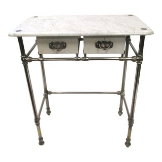 Vintage Industrial Medical Side Table