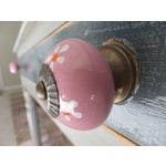 Image of Pink Floral Knobs- Set of 6