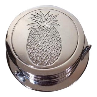 Silver Plated Pineapple Motif Coasters- 8 Pieces