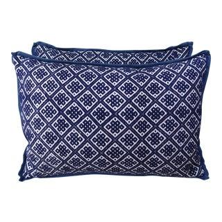 A Pair of Cotton Woven Hmong Pillows