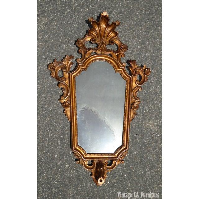 Antique Italian Rococo Giltwood Wall Mirror - Image 2 of 11