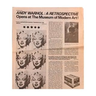 Vintage Andy Warhol MoMa Exhibit Promo