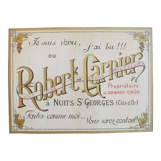 Original Robert Garnier French Vintage Wine Advertisement Poster, Nuits-St-Georges