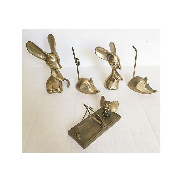 Mid-Century Brass Mouse Collection - Set of 5 - Image 5 of 5