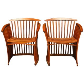 Bentwood Steamer Armchairs by Thomas Lamb - A Pair
