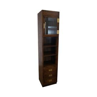 Henredon Scene One Campaign Style Bookcase Curio Cabinet