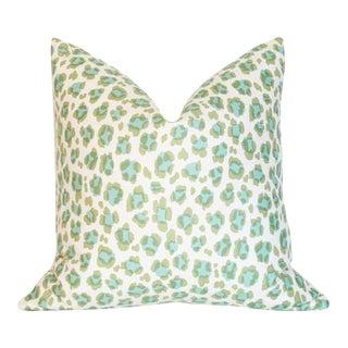 Conga Line Moss & Aqua Pillow Cover