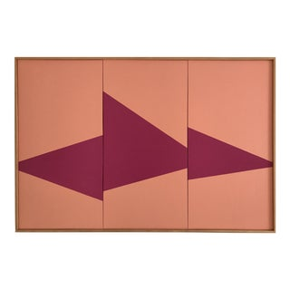 """Pink on Point Triptych - Jet0423"" Original Acrylic Painting by Jason Trotter"