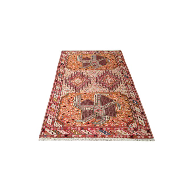 4′ × 6′6″ Silk Persian Hand Made Knotted Rug - Size Cat. 4x6 - Image 1 of 4