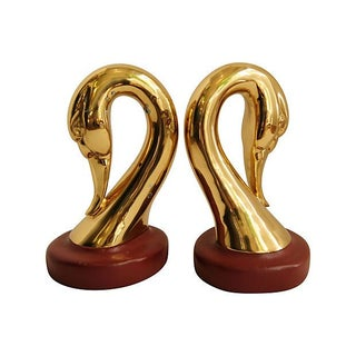 Sarried Brass & Leather Bookends