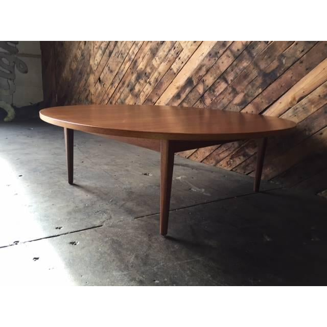 Mid-Century Walnut Round Drexel Coffee Table