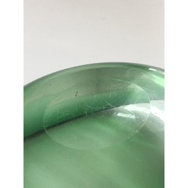 Alfredo Barbini Murano Glass Green Ashtray - Image 6 of 7