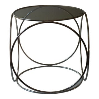 Chrome & Smoked Glass Side Table