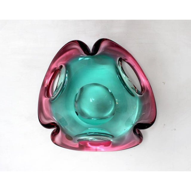 Mid-Century Sculptural Murano Glass Dish - Image 9 of 11