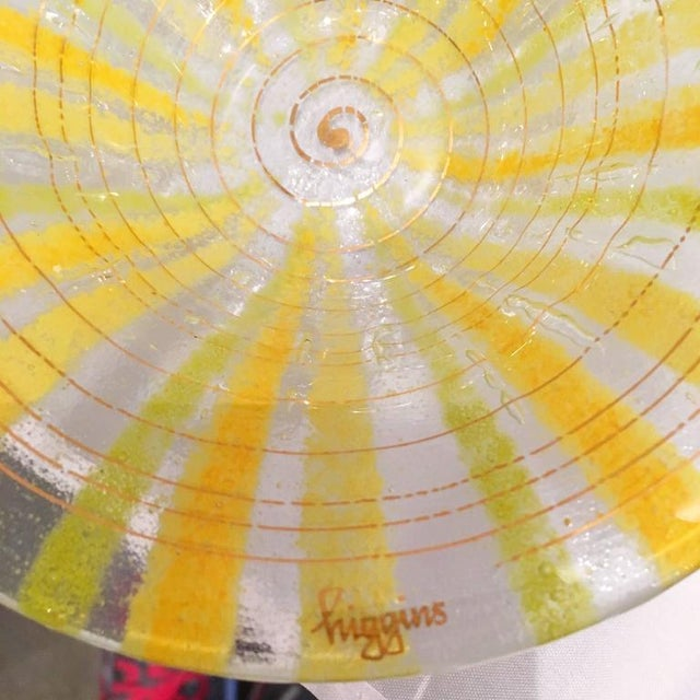 Signed Pair of Higgins Fused Modern Art Glass Bowls - Image 3 of 5