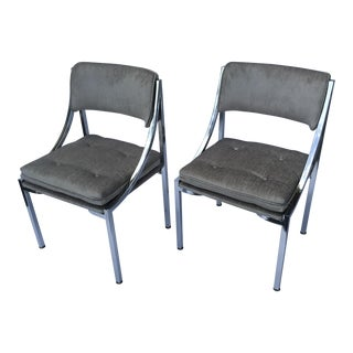 Dining Chairs by Milo Baughman - Pair