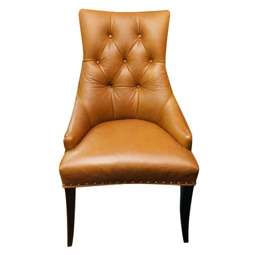 Leather Chair With Antique Brass Nail Heads - Image 1 of 5