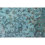 "Image of Turkish Overdyed Turquoise Area Rug - 5'7"" X 9'1"""