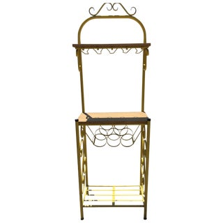 Wrought Iron Kitchen Wine Rack